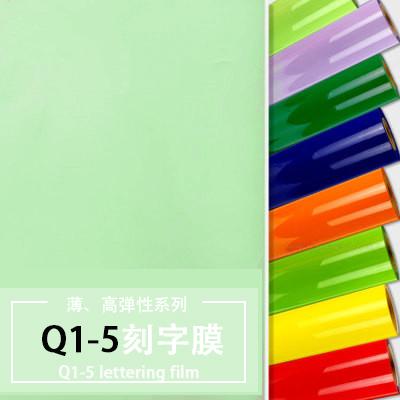 Q1-5薄、高弹性刻字膜